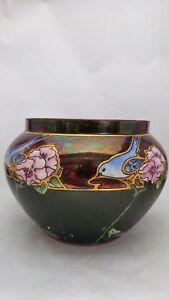 Bernardaud & Co. Limoges France Handpainted Canary & Flowers Jardiniere Pot