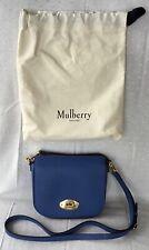 MULBERRY * Small DARLEY Classic Grain Leather Satchel Bag Handbag Porcelain Blue