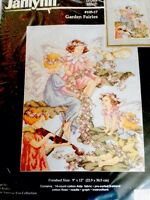 Garden Fairies counted cross stitch kit, Marie Barber , Janlynn MPN 105-17