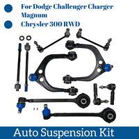 10 Pcs Suspension Parts kit Control Arm Ball Joint Tie Rod End Sway Bar Link Kit
