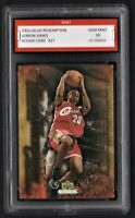 2003/04 LeBron James Upper Deck Redemption Rookie 1st Graded 10 Lakers Card #27