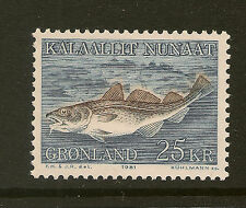 GREENLAND : 1981 25 Kr Atlantic Cod   SG130 unmounted mint