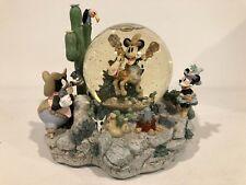 Rare - Disney Mickey Home On The Range Snow Globe - Lights Up, Music, Animated