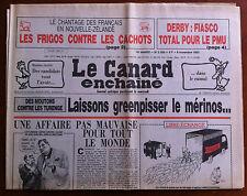Le Canard Enchaîné 6/11/1985; Derby; Fiasco total pour le PMU