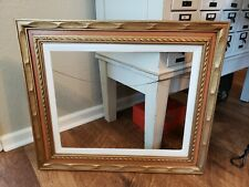 Vintage Mid Century Gold Carved Wood Picture Frame Free Ship