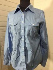 Brooks Brothers 346 Women's Button Front Small Long Sleeve Blue Shirt