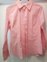 NEW YORK & COMPANY  Womens Button Down Shirt PINK Long Sleeve Stretch Top MEDIUM