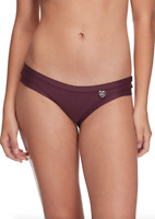 Body Glove Red Women's Solid Low Rise Bikini Bottom Swimsuit Size XS 67845