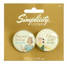 Simplicity Vintage Range Campaigne Buttons/Broach