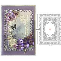 Spitze Rahmen Stanzschablone Hintergrund Hochzeit Weihnachten Geburtstag Karte