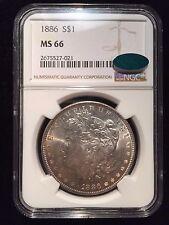 1886 P Morgan Silver Dollar NGC MS66 CAC Uncirculated BU MS S$1