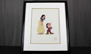 Snow White and Grumpy animation serigraph cel Walt Disney w/ COA lim. edition