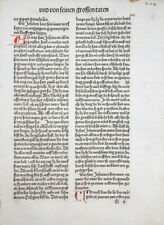 INKUNABEL SCHATZBEHALTER TEXT DOPPELBLATT 12 ARTIKEL DES GLAUBENS KOBERGER 1491
