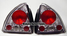 92-96 Honda Prelude Diamond Cut Crystal Euro clear Altezza Tail Lights DEPO Pair
