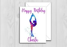 Personalised Ice Skating Birthday Card Niece Daughter Sister Cousin Any Name Age