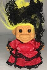 Russ Troll Doll in Red Dress with Black Veil 5""