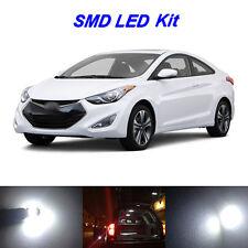 8 x White LED Bulbs for 2011-2015 Hyundai Elantra License Plate + Interior Light