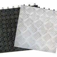 10 piastrelle in alluminio 31x31 cm pavimento piastrella supporto resina