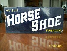 HORSE SHOE TOBACCO ORIGINAL TWO-SIDED PORCELAIN FLANGE SIGN