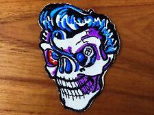 Rockabilly Sugar Skull Men Patch Sew On Iron Embroidered Vintage Rock Punk