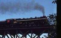 GTW 6218 GRAND TRUNK WESTERN Railroad Steam Locomotive Original 1971 Photo Slide