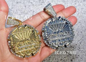 MEN HIP HOP ICED LAB DIAMOND JUMBO SIZE RELIGIOUS LAST SUPPER BLING-ED PENDANT