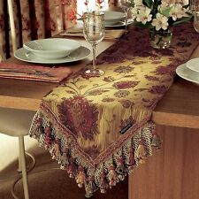 """Heavy Quality Tapestry Antique Gold Period Style Table Runner.13"""" X 90"""" 33x229cm"""