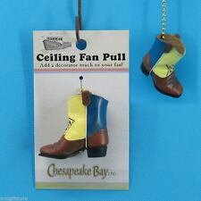 Ceiling Fan Accessory Pull - Hand Painted Epoxy Resin Cowboy Boot # 60876