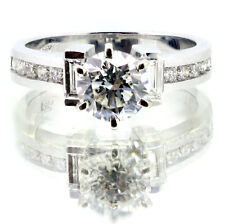 1,68 Ct Anillo De Compromiso Diamante Corte Princesa G Si1 14k Oro Blanco