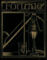 Scientific Laboratory flame Fortune Magazine 1935 Art Deco style color cover