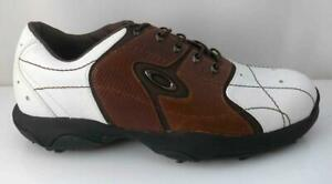 OAKLEY MENS GOLF SHOES WHITE BROWN  SIZE US 9  AUS 8 TRADE SAMPLE NEW  RARE