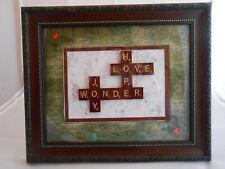 """Scrabble Tiles Sign """"Holiday Spirit"""", Holiday Decor, Christmas, Seasonal"""