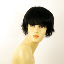 wig for women 100% natural hair black ref CYNTHIA 1B PERUK