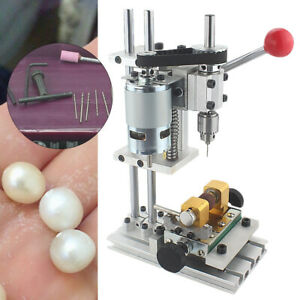 Beads Puncher Desktop Model Drilling bodhi ivory pearl crystal jade Driller 220V