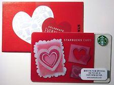 Starbucks Korea 2013 Valentine's Day Heart Card with Matching Sleeve