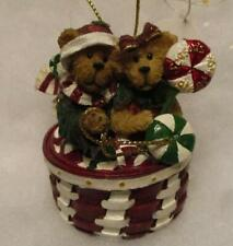 Longaberger Boyds Christmas Ornament Petey And Paige, Peppermint