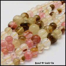 Graduated Round Bead Strand DIY necklace 6,8,10,14mm - 65pcs - Tiger Skin
