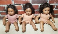 "American Girl 14"" African American Dolls - Set of 3 - As Is Needs Some TLC"