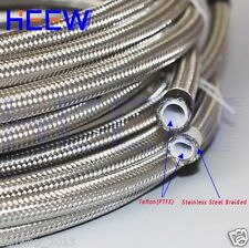 10 M Stainless STEEL Braided  E85 AN6 AN-6 PTFE inner Teflon Oil Line Fuel Hose