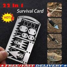 Camping Hiking Emergency Kit EDC Gear Multi Tool Card Wallet Survival sized Xmas