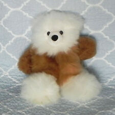 New 100% Baby Alpaca 12� Teddy Bear Soft Fluffy Cuddly White and Brown Nice
