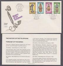 RSA Bophuthatswana # 108 - # 111 , Telephone History FDC - I Combine S/H