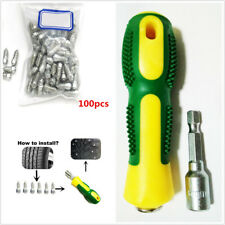 100PC Car Tire Stud Screw&Sleeve Tool Kit Truck Motorcycle Anti-slip Carbide Tip