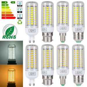E14 E27 G9 B22 7W 12W 15W 20W 25W 5730 SMD LED Corn Bulb Lamp Light Bright 220V