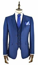 Mens Designer Cavani Blue Blazer Waistcoat Trousers Sold Separately 3 Piece Suit