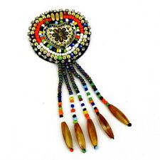 Patch Sewing bag Decoration Inca Kuchi Afghan Banjara Tribal beads Heart AF86