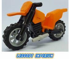 LEGO Motorcycle - Orange - full assembly dirt bike FREE POST