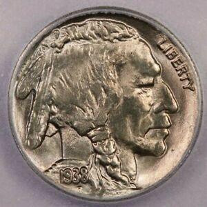 1938-D 1938 Buffalo Nickel ICG MS60 details