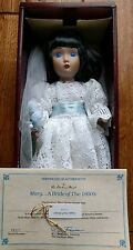 Mary A Bride of the 1950's Porcelain Doll from Brides of America Collection