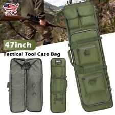 """47"""" Tactical Tool Bag Padded Carry Case Storage Cases Double Straps Grand Green"""